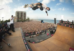 Tony Hawk has landed multiple 900's since the first during the 1999 Summer X Games.... He has the confidence because he has had prior success.