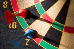 Cold applying to jobs is like throwing darts at a board while blind folded...